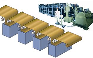 加工機械のプリント回路銅箔製造プラント